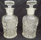 Pair 2 Imperial Glass Hobstar and Arches OMN 302 Perfume Cologne Bottle EAPG