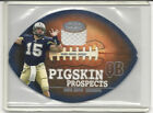 2001 FLEER NFL HOT PROSPECTS DREW BREES PIGSKIN PROSPECTS GAME WORN JERSEY RC