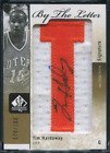 2011 SP AUTHENTIC TIM HARDAWAY #BL-TH WARRIORS 100 BY THE LETTER AUTO PATCH BJ1