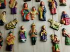 Christmas Ornaments Nativity Scene 24 Hand Painted 24 Individual Pieces Peru