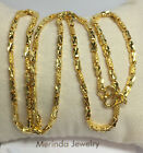 Pure 24k Solid Gold Shiny Heavy Chain Necklace 21 Inches 1856 Grams