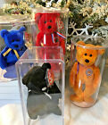 4 Mint BEANIEs BABIES w/ CLEAR DISPLAY CASES ~UNITY ~FERNY ~WALES ~CELEBRATIONS