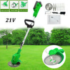 21V Lithium Grass Trimmer Lawn Mower Grass Edge Brush Cutter w Blade  Wheels