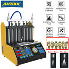 CT200 Car Motorcycle Fuel Injector Tester Cleaner 6 Cylinder Cleaning Machine US
