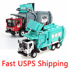 1 43 Scale Diecast Recycling Garbage Truck Model Toy Car with Bin
