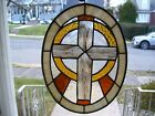 Stained Glass Cross Sun catcher Real Glass