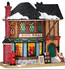 Lemax-PUBLIC LIBRARY -Holiday Village Lighted -NO OUTER BOX