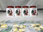 Vintage TIPP CITY Milk Glass Spice Shakers With Rooster Set Of 4 Assorted