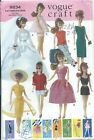 Vogue 9834 Pattern 11 FASHION DOLL CLOTHING Bride Gown Summer PJs Shorts Hat