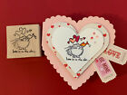 Fluffles LOve is in The Air Cat Kissing Fish Valentines Day Rubber Stamp CARD