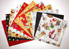 Loralie Chicken Chique Farm Themed Cotton Fabric 10 Layer Cake 44 Squares