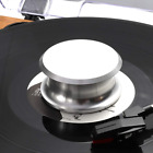 Turntable Record Weight Stabilizer Vinyl Player Disc Silver Cotton Felt Bottom