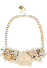 Betsey Johnson Pearl Shell Statement Necklace MSRP 165 300590C101