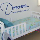 DREAMS ARE WHISPERS wall quote transfer graphic vinyl large sticker niq41