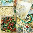 Huge Jewelry Making Bead Lot 8 + Lbs Vintage to Now Czech Glass Ceramic Beads ++