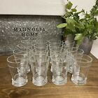 8oz Hearth  Hand With Magnolia Tumbler Glass Cup Clear Rustic Modern Set of 16