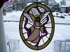 Stained Glass Guardian Angel Sun catcher Real Glass