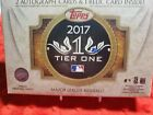 2017 TOPPS TIER ONE FACTORY SEALED HOBBY BOX
