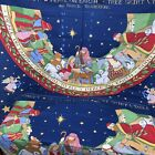 2 fabric panels Susan Winget Peace On Earth Christmas Tree Skirt 1995 Nativity