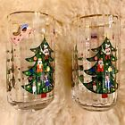 Anthropologie Rifle Paper Nutcracker Juice Glass Christmas Tree Holiday NEW