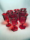 Fostoria Coin Ruby Goblet 6 1 2 inches tall