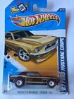Hot Wheels Muscle Mania 2012 Super Treasure Hunt Brown 1967 Ford Mustang Coupe