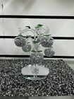Decorative Crystal Filled Glass Apple Tree 6 Crystal Clear Crushed Diamond