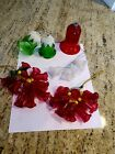 Glass Bell Cluster Christmas Ornaments and Glass Bell Ornaments Lot of 5
