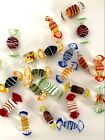 Vintage Italian Murano Hand Blown Glass Wrapped Candy 22 pieces
