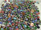 2 Pounds India Handmade Chevron Glass Beads Assorted Wholesale Bulk Mix XX 76