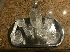 tiffany  co Grenada Pattern Decanter Set with 6 glasses