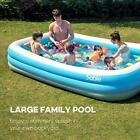 Inflatable Pool Blow Up Family Full Sized Pool for Kids Toddlers Infant  Ad
