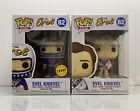 2x FUNKO POP EVEL KNIEVEL DAREDEVIL #62 ICONS CHASE LIMITED EDITION BUNDLE SET