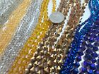Bulk Lot Crystal Beads BICONE Glass Beads Mix color size Green Yellow 5 lbs