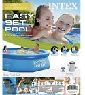 INTEX 10x30 Easy Set Round Inflatable Above Ground Pool with Filter Pump NEW