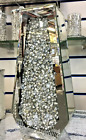 CRUSHED DIAMOND STUNNING SILVER CRYSTAL SILVER GLASS VASE MIRRORED 40X20CM