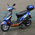 Redfox PowerSport Blue 50cc Gas Scooter Moped Express With Auto Transmission