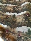 Upholstery Fabric Equestrian Tapestry Hunt Horse Print