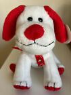 """New TY Original Beanie Babies HEARTBEAT Red & White Dog about 5"""" Valentine 2008"""