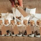 Glass Wish Bottle Empty with Cork Wedding Favor for Guest 25ml