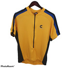 Cannondale Bicycle Shirt Zipper Made in USA Yellow Cycling Mens XL
