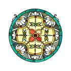 Stained Glass Dragonfly Window Panel Chloe Lighting CH8P021BD20 RND 20 Diameter