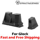 Strike Industries Stainless Steel Co Witness Height Front Rear Sights for Glock