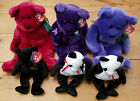 TY Beanie Buddy Cranberry Teddy Princess Employee Beanies The End Fortune Bear