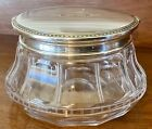Large Dresser Jar Sterling Silver Cut Glass by McChesney Early 1900s