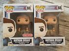 Funko Pop! Uncharted 4 Nathan Drake #88 & Target Exclusive Brown Shirt Lot of 2