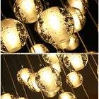 Stair Hanging Light Chandelier Round Crystal Pendant Lights Glass Ball Lamparas