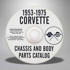 1953 1975 Chevrolet Corvette Chassis and Body Parts Catalog CD 648259