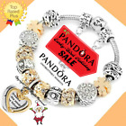 Authentic Pandora Bracelet Silver Gold DREAMS with European Charms New