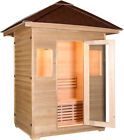 2 3 PERSON CANADIAN HEMLOCK WOOD SWEDISH WET DRY TRADITIONAL OUTDOOR SAUNA SPA
